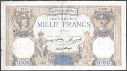 France 1000 Francs Cérès Et Mercure Du 30 Mars 1933 - 1871-1952 Antichi Franchi Circolanti Nel XX Secolo