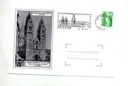 Carte  Flamme Selestat Prieuré Sainte Foy Illustré - Marcophilie (Lettres)