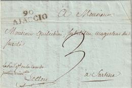 Frankreich / 1809 / Vorphila-Brief L2 90 AJACCIO (4205) - Poststempel (Briefe)