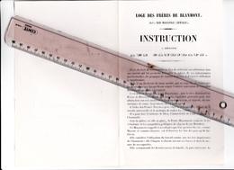 27 - GISORS - FRANC-MACONNERIE - LOGE Des FRERES De BLANMONT - Instructions à Présenter Aux Candidats - RARE - 1850 60 - Vieux Papiers