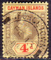 Cayman Islands 1913 SG #46 4d Used CV £10 - Cayman (Isole)