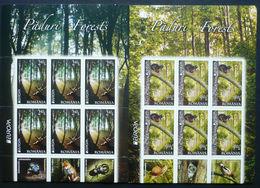 2011 Romania Mi# 6522 - 23 Europe CEPT Fauna Sheets MNH ** - 1948-.... Repúblicas