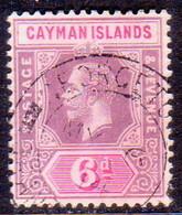 Cayman Islands 1913 SG #47 6d Used CV £8 - Kaaiman Eilanden