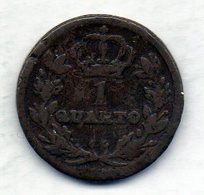 GIBRALTAR, 1 Quarto, Copper, Year 1813, KM #Tn5 - Gibilterra
