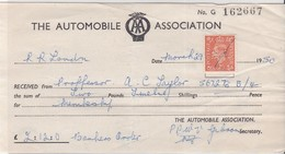 DOCUMENT - THE AUTOMOBILE ASSOCIATION Avec T. 2 D - Briefe U. Dokumente