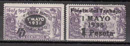 1938  Edifil Nº 761 / 762 MH - 1931-50 Ungebraucht