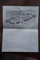 Facture De 1895-Frederic Mugnier-distilleries D'absinthe-Dijon-a Destination De Forestier A Aisy Sur Armançon-cassis - Francia