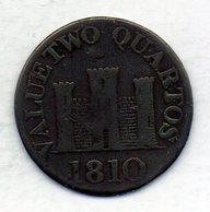 GIBRALTAR, 2 Quartos, Copper, Year 1810, KM #Tn4.2 - Gibilterra