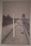 1915 Guignicourt Pont De Chemin De Fer Station Eau Détruit Occupation Allemande Tranchée 14 18 1 Ww1 Carte Photo - Guerra, Militari