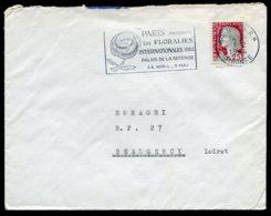 16381 FRANCE N°1263° Flamme :Paris Floralies Internationales Palais De La Défense 24 Avril-3 Mai Bordeaux Du 26.7.1965TB - Marcophilie (Lettres)