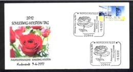 1.- GERMANY ALLEMAGNE 2012. SPECIAL POSTMARK. ROSES. ROSAS. FLOWERS. FLEURS. FLORES - Rosas