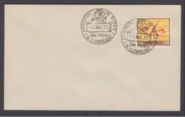 2.- SPAIN ESPAGNE 1970 SPECIAL POSTMARK. EXHIBITION OF THE ROSES. SAN FELIU DE LLOBREGAT BARCELONA - Rosas