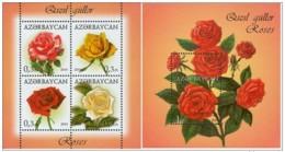3.- AZERBAIJAN 2014 Flowers. Roses - Rosas
