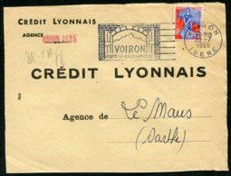 16384 FRANCE N°1234° Flamme : Voiron Porte De La Chartreuse  Du 22.7.1960   TB - Marcophilie (Lettres)