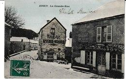 Côte D'Or  AISEY La Grande Rue (Epicerie Mercerie Tabac. Publicité Meunier) - Autres Communes