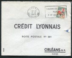 16391 FRANCE N°1331A° Flamme : Salon De L'Auto Paris 7-17 OCT. 1965  Du 11.8.1965   TB - Marcophilie (Lettres)