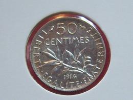 50 CTMES 1914  SPL ARGENT SEMEUSE TRES RARE!!!!!!!!!!!! - France