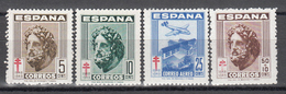 1948    Edifil Nº 1040 / 1043   MNH, Pro Tuberculosos - 1931-Tegenwoordig: 2de Rep. - ...Juan Carlos I