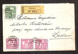 Cover -traveled 1908th-Cattaro-Zadar - 1850-1918 Impero