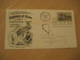 VIRGINIA CITY 1959 Discovery Of Silver Mining On The Comstock FDC Cancel Cover USA Geology Geologie - Altri