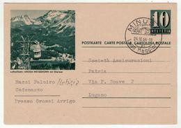 Suisse // Schweiz // Switzerland //  Entier Postaux  //  Entier Postal Au Départ De Minusio Le 24.04.1964 - Interi Postali