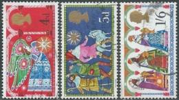 1969 GREAT BRITAIN USED CHRISTMAS SG 812/4 SET OF 3 - RC3-9 - 1952-.... (Elizabeth II)