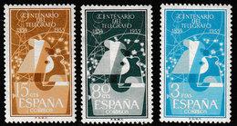 Spanje 1955 , Michel 1065/1067* - Scharnier - Charnière - Hanged - 1931-Aujourd'hui: II. République - ....Juan Carlos I