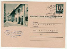 Suisse // Schweiz // Switzerland //  Entier Postaux  //  Entier Postal Au Départ De Muri Le 8.09.1964 - Interi Postali