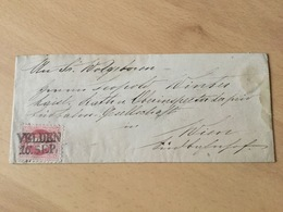 GÄ31469 Österreich 1870 Brief Von Velden Nach Wien Seltener Zweizeiler!!! - Eastern Austria