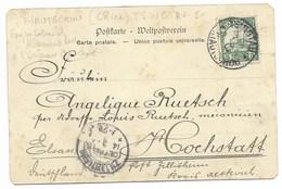 TSINGTAU *KIAUTSCHOU* 1903 / TP Kiautschou Sur Carte Postale Chinesen-Compagnie - Colonie: Kiautchou