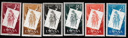 Spanje 1956, Michel 1097/1102* - Scharnier - Charnière - Hanged - 1931-Aujourd'hui: II. République - ....Juan Carlos I