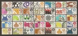 Mexique 1975/92 - Exportations - Petit Lot De 35 Timbres° - Fruit - Légume - Chaussures - Livre - Coton - Cuivre - Boeuf - Vrac (max 999 Timbres)