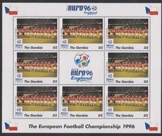 Soccer European Cup 1996 - Football - GAMBIA - Sheet MNH - Team Ceskoslovensko - Championnat D'Europe (UEFA)