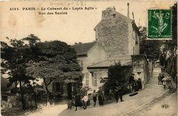 CPA PARIS 18e Le Cabaret Du Lapin Agile Rue Des Saules Ed. E.L.D. (577484) - París La Noche