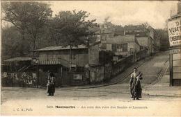 CPA PARIS 18e Montmartre. Au Coin De Rues Des Saules Et Lamarck (575789) - Arrondissement: 18