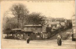 CPA PARIS 18e Montmartre. Au Coin Des Rues Des Saules Et Lamarck (575851) - Arrondissement: 18