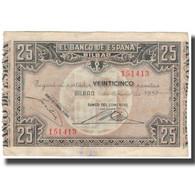 Billet, Espagne, 25 Pesetas, 1937-01-01, KM:S563, TTB - 25 Pesetas