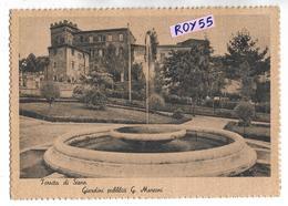 Toscana Siena Torrita Di Siena  Giardini Pubblici G.marconi Anni 40 Vedere Affrancatura E Timbro Postale Retro 1945 - Storia Postale