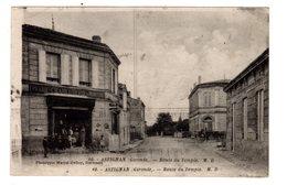 CPA Saint Médard En Jalles Astignan Hastignan Gironde 33 Route Du Temple Epicerie Charcuterie Mercerie Pub Café Masset - Otros Municipios