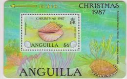 #07 - CARIBBEAN-084 - ANGUILLA - CHRISTMAS 1987 - STAMP - SHELL - Anguilla