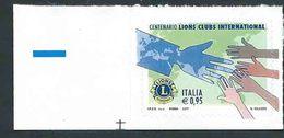 Italia 2017; Lions Clubs International, 100° Fondazione; Angolo Inferiore. - 6. 1946-.. Repubblica