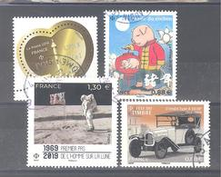 France Oblitérés : Premier Pas De L'homme Sur La Lune - N°5293 - 5295 & 5302 (cachet Rond) - France