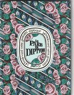 Double Carte Contenant Un Grand Plan De Paris ,avec Les 36 Adresses Préférées De Diptyque (Librairies,Gastronomie Etc.) - Perfume Cards