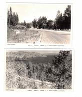 2 Different WEST HAWK LAKE, Manitoba, Canada, Old Real Photo Postcards - Other
