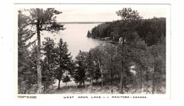 WEST HAWK LAKE, Manitoba, Canada, Cottage & Boathouse, Old Real Photo Postcard - Other