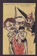CPA JAURES Satirique Caricature Non Circulé Voir Scan Du Dos Marc Sangnier Le Sillon Zislan Alsace - Satiriques