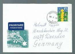 LETTER LETTRE COVER POSTAL HISTORY KRETINGA LIETUVA TO GERMANY EUROPA 2000 - 2000