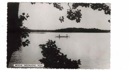 DELORAINE, Manitoba, Canada, Beach, Canoeists, Old Real Photo Postcard - Other