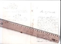 27 - GISORS - FRANC-MACONNERIE - Lettre à En-tête HOTEL De L'ECU De FRANCE Adressée Pour Dem De Renseig Sur Futur Menbre - Vieux Papiers