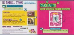 = Encart Cartonné Timbre Adhésif 864A Marianne Et La Jeunesse TVP LV Oblitéré Lecture électronique En 3D Collector N°223 - 2013-... Marianne De Ciappa-Kawena